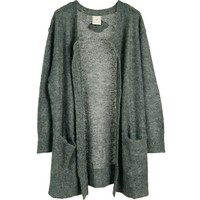 HEARTMADE / JULIE FAGERHOLT Pericon long cardigan grey melange