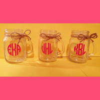 Monogrammed Mason Jar Shot Glasses