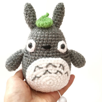 Music Box Musical Plush Amigurumi Totoro Crochet Totoro Stuffed Toy Kawaii Plush Nursery Decor Birthday Baby Shower Gift Ideas