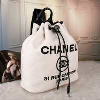 CHANEL Women Shopping Bag Tote Handbag Backpack