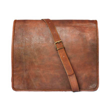 """13""""(W)x10""""(H)x4""""(D) Handmade Genuine Leather Rustic style Men's Messenger Bag, Computer Satchel, Macbook, Notebook, Carry all"""