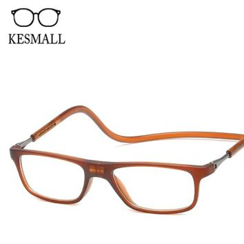 KESMALL Unisex Magnet Reading Glasses Men Women Adjustable Eyeglasses Hanging Neck Magnetic Front Presbyopic Glasses YJ1248