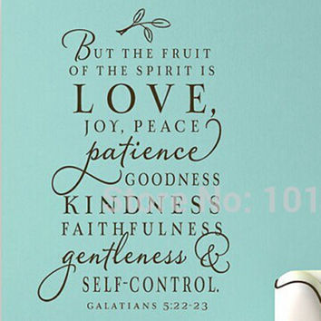 Large Size Bible Verse Decal - The Fruit Of The Spirit - Vinyl Wall Decal