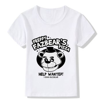 Children Summer Cartoon  At  Pizza Print Funny T shirt Kids Baby Clothes Boys Girls 5 Top Tee,HKP5016