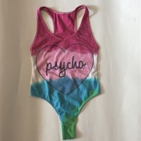 Psycho 3 color Dip Dye Bodysuit