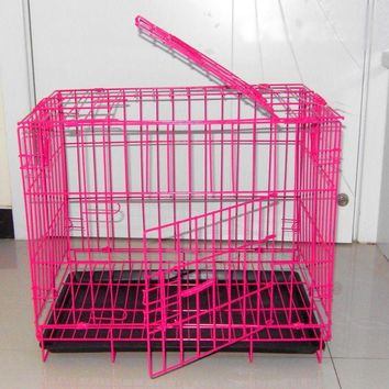 Iron Steel Dog Cage 50x35x42cm