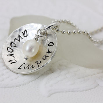 Ancora Imparo - Hand Stamped Sterling Silver Jewelry - Inspirational Jewelry - Name Jewelry - Christina Guenther