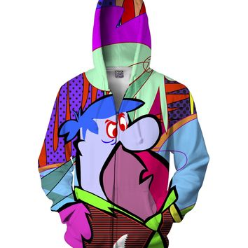Fred Flintstone Zip-Up Hoodie