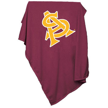 Arizona State Sun Devils NCAA Sweatshirt Blanket Throw