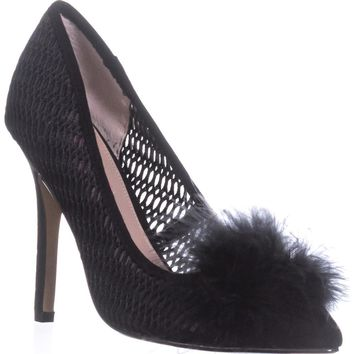 Betsey Johnson Olvia Perforated Heels, Black, 8 US