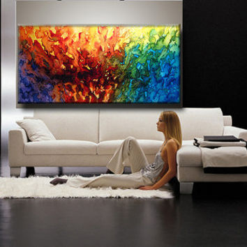 Large ORIGINAL Abstract Painting Modern Fine by newwaveartgallery