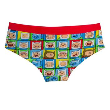 Adventure Time Finn Faces All Over Panty Underwear