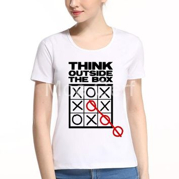 Think Outside The Box - Women's Casual O-neck T-shirt