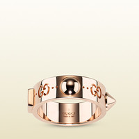 Gucci - Good Gold Icon ring in rose gold with studs 373714J85005702