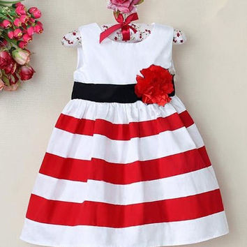 Kids Baby Girls Princess Skirt Flower Vest Beach Tutus Dress Sleeveless SunDress = 1946033988