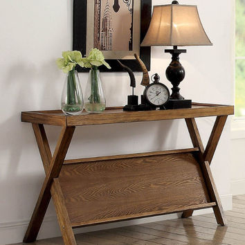 CM4177S Caitlin light oak finish wood sofa console entry table