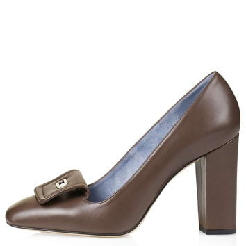 Leather High Heel Courts by Unique - Court Shoes - Shoes