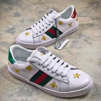 GUCCI Ace Embroidered Low Top Sneaker #5 - Best Online Sale