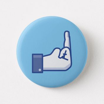 Humor Facebook Middle Finger Icon Button