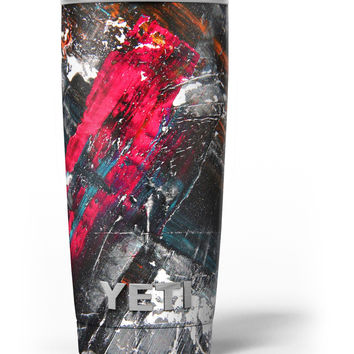 Abstract Grungy Oil Mess Yeti Rambler Skin Kit
