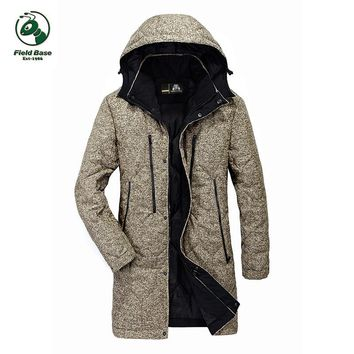 Field Base Winter Parkas casual men's jackets coats Jacket Warm Long jacket Coat Male mens clothing