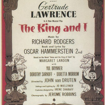 The King And I 11x17 Broadway Show Poster (1951)
