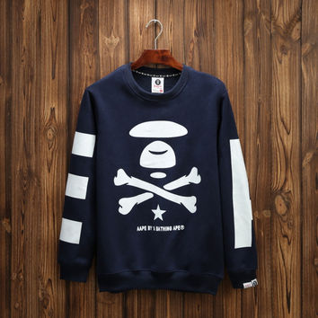 Couple Ape Winter Pullover Round-neck Long Sleeve Hoodies [9282216583]