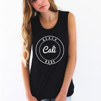 Beach Babe, Cali Muscle Tank Top