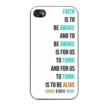 twenty on pilots car radio lyrics white cover iPhone4 4s 5 5s 5c 6 6s plus cases