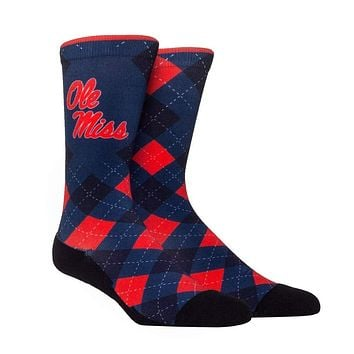 Rock Em NCAA Ole Miss Rebels HyperOptic Argyle Crew