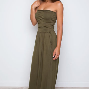 Make It Last Maxi Dress - Olive