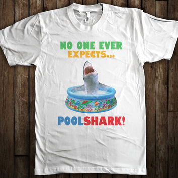 No One Expects Pool Shark Funny Mens Womens Graphic T-Shirt