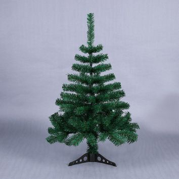 90cm Artificial Decorated Christmas Tree Green Xmas Plastic Tree New Year Home Ornaments Desktop Decorations Christmas Tree