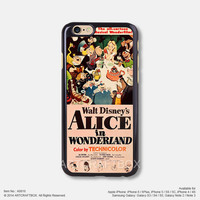 Disney Alice in Wonderland Movie Poster Free Shipping iPhone 6 6Plus case iPhone 5s case iPhone 5C case iPhone 4 4S case Samsung galaxy Note 2 Note 3 Note 4 S3 S4 S5 case 816