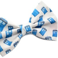 Doctor Who Bow Tie  with Adjustable Strap by uniquechicbowtique