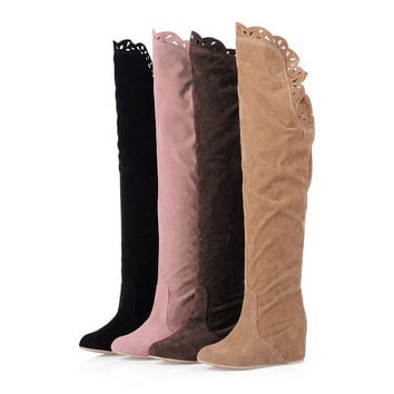 Womens Sexy Lovely Knee High Casual Boots
