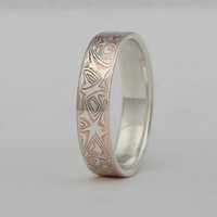 Size 14 1/4 mokume gane ring band, number 118.