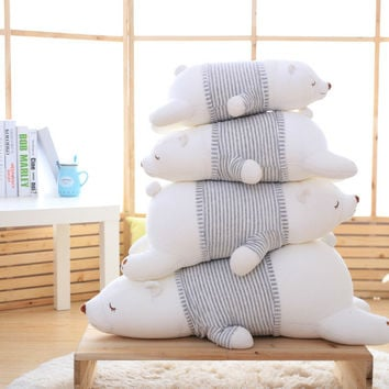 2016 new 50cm Polar Bear Soft Stuffed Toy Nanoparticle Stuffed Doll Polar Bear Nano Doll Cute Plush Toy Gift For Lovers AND Kids