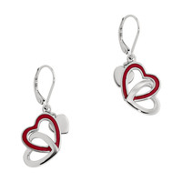 Women's Sterling Silver Lever Back Earrings, EMOTION Collection