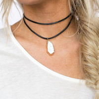 Dazed in Druzy Choker Necklace