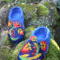 Felted Slippers- Coloured Fairy tale Made to order
