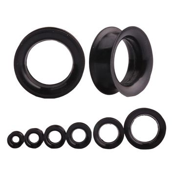 1Pair Black Silicone Ear Expansion Stretch Hollow Ear Gauges Ear Plugs and Tunnels Earring Cartilage Body Piercing Jewelry