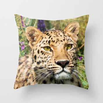 LEOPARD BEAUTY Throw Pillow by Catspaws | Society6