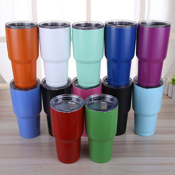 2017 new Mugs 30oz 20oz Rambler Tumbler Cooler Mug Vacuum Insulated Stainless Steel Tumbler Mug for Dropship-C1K2
