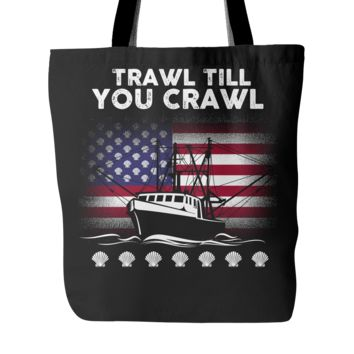 Scallopers Tote Bag - Trawl Till You Crawl