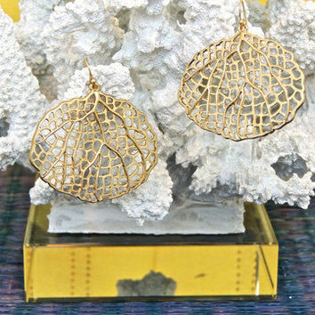 Laced Leaves Earrings -  $18.00 | Daily Chic Accessories | International Shipping
