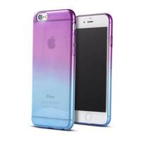 """New Gradient Color Ultra Slim Silicon Gel Case for iPhone 6 6S 4.7"""" Transparent Case Skin Soft Back Crystal Cover for iPhone 6S"""