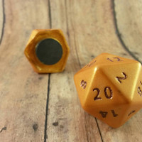 D20 Magnet, D20 Dice, D20 Dice Magnet, Gamer Geek, Geeky Gamer, Geek Magnet, Role Playing Game, RPG, Tabletop Dice, Critical Hit Magnet