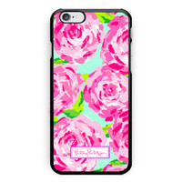 Lilly Pulitzer Pattern Roses Hard Plastic Case For iPhone 6s 6s plus Low Price