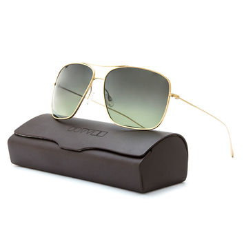 Oliver Peoples Berenson Sunglasses 1165ST 5035/T4 Gold / Green Faded Polarized